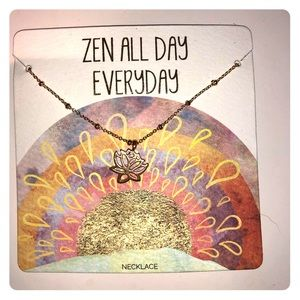 Jewelry - Zen Necklace Lotus Flower NWT🧘🏻♀️🕉